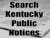Search Kentucky Public Notices